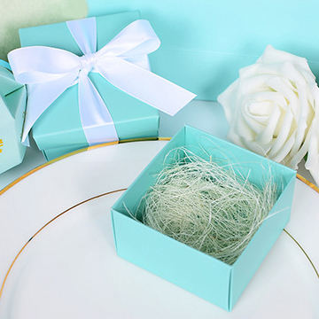 Wedding Gift Box Tiffany Blue : ... Tiffany Blue/Gold Paper Favor Wedding Gift Box+RibbonWedding Look