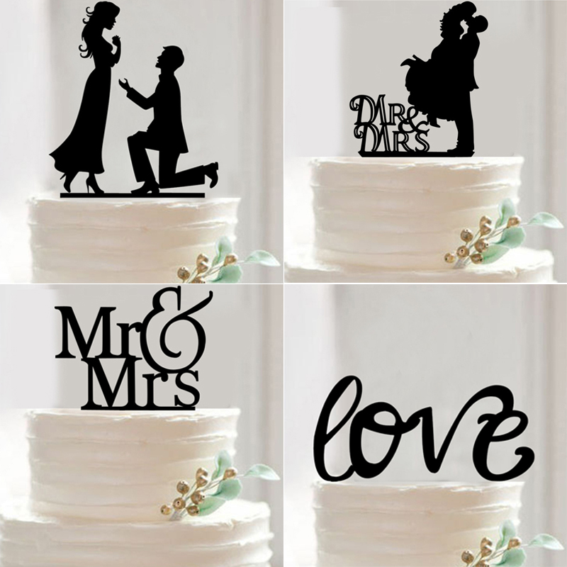wedding cake toppers mr and mrs mr mrs wedding cake topper acrylic black wedding 26547