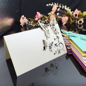 欧式出口高档镂空席位卡 婚礼餐台卡桌卡