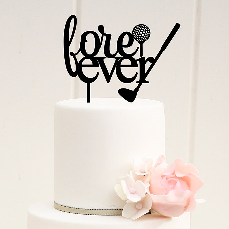 wedding cake topper letter golf fore letter wedding cake topper wedding look 8805