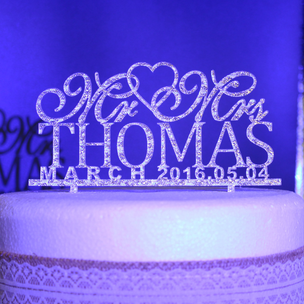 personalised silver wedding cake toppers personalized acrylic gold silver glitter wedding cake 18223