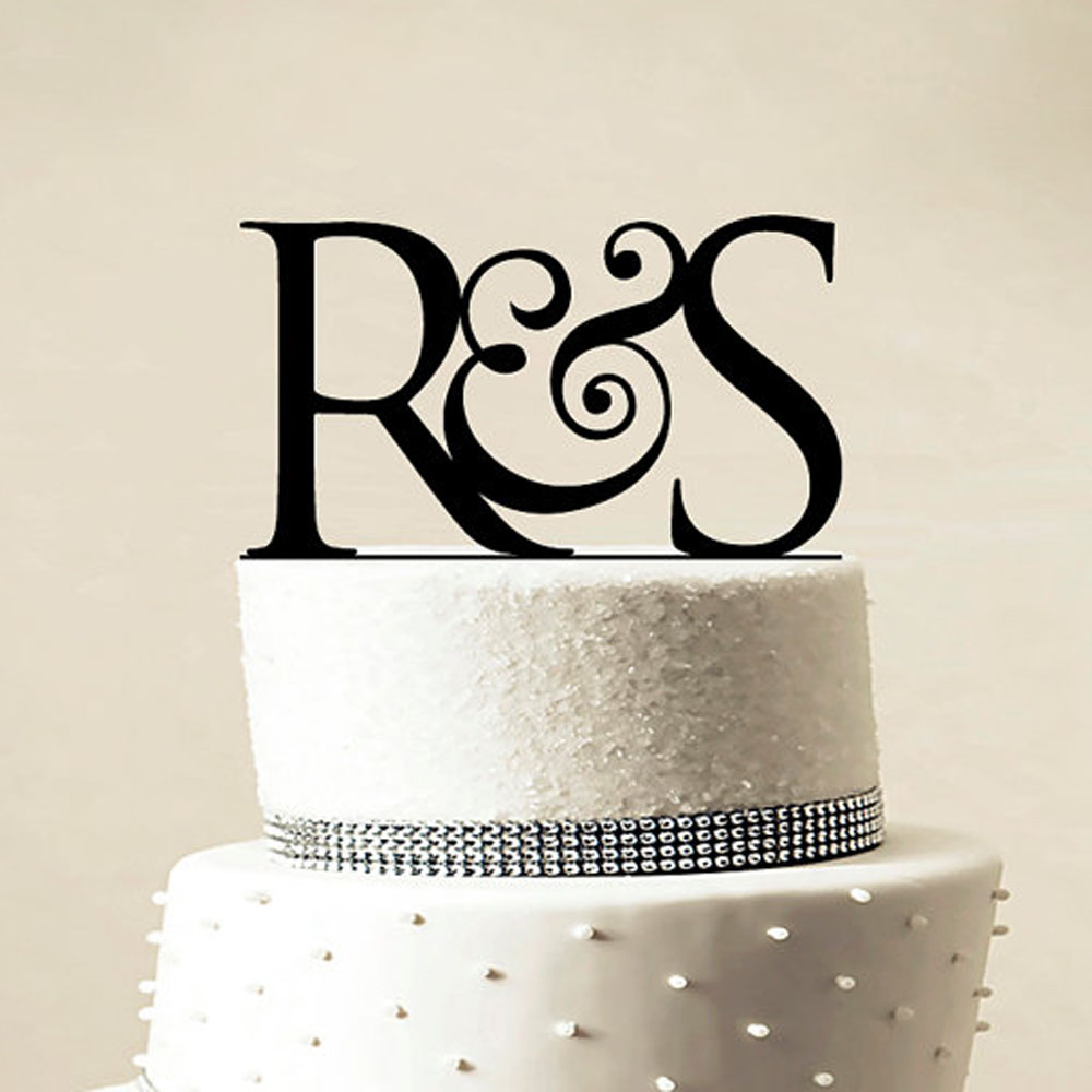 personalised silver wedding cake toppers personalized monogram black gold silver wedding cake 18223