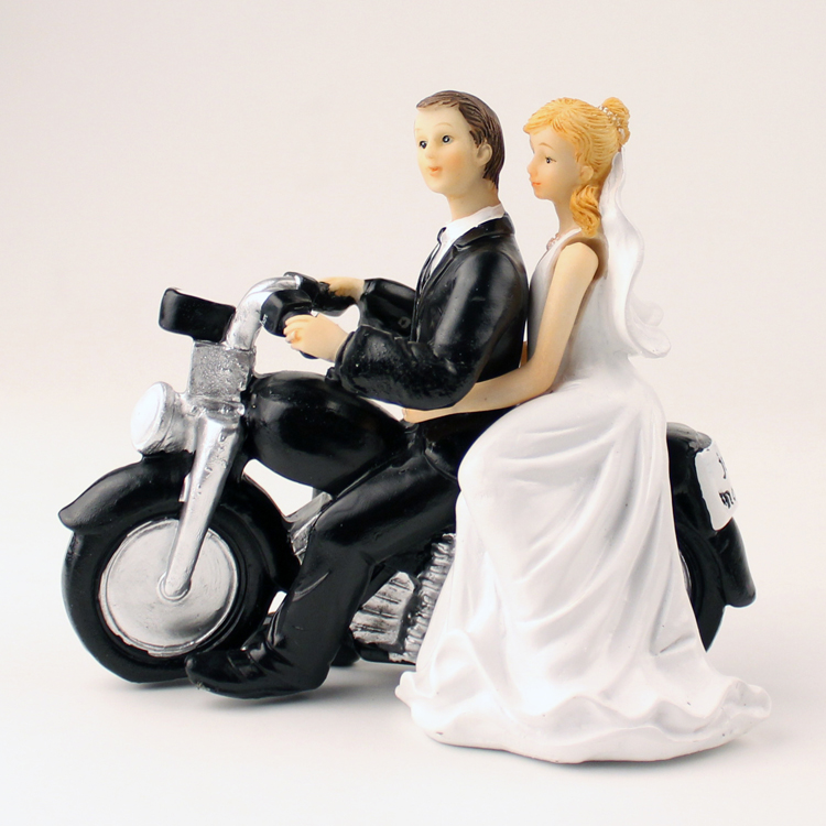 wedding cake topper figurines motorcycle wedding figurine wedding cake topper 26319