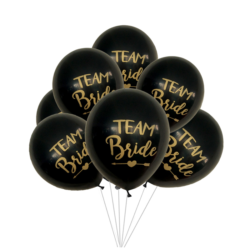 10pcs 12Inch Team Bride Latex Balloon For Wedding